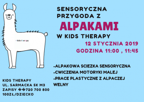 Alpakoterapia w Kids Therapy